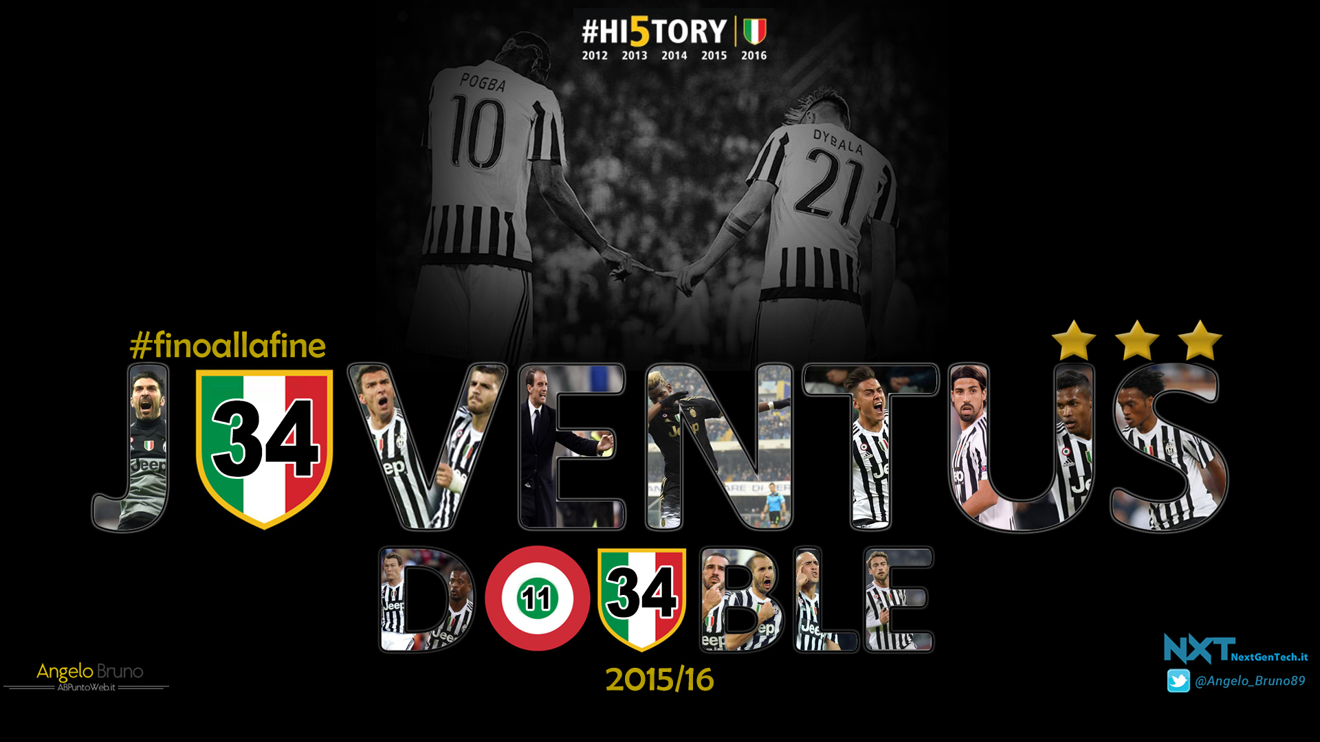 Juventus wallpaper 2015 16 full hd angelo bruno abpuntoweb for Sfondo juventus hd
